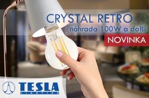 TESLA LIGHTING led žárovky Crystal Retro náhrada 100W žárovky a další
