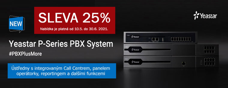 YEASTAR - IP ústředny řady P - sleva 25%